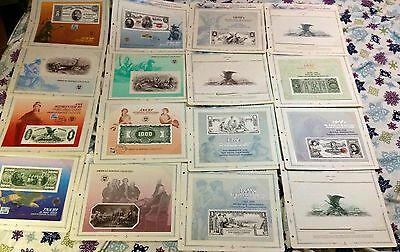 BEP SOUVENIR SHEETS Proof / INTAGLIO Lot of 114 DIFFERENT 1969-1997 in ALBUMS