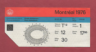 Orig.ticket   Olympic Games MONTREAL 1976  -  CLOSING CEREMONY  !!  EXTREM RARE