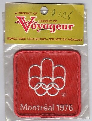 Orig.clothe badge   Olympic Games MONTREAL 1976  -  OFFICIAL LOGO / in Orig.pack