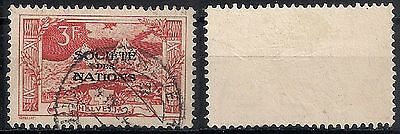SWITZERLAND LEAGUE OF NATIONS SC# 2O27 3fr red USED