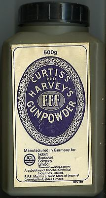Vintage Curtis's and Harvey's FFF Black Powder Container (EMPTY)