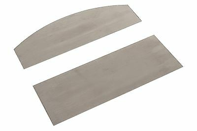 """Japanese Straight and Curved Middle Size Card Scraper Set- .4mm (.015"""") thick"""