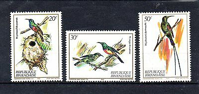 set of 3 mint bird themed stamps