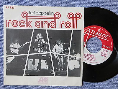 """Led Zeppelin Rock And Roll 7"""" Atlantic HS823 VG/EX 1972 picture sleeve, Spanish,"""