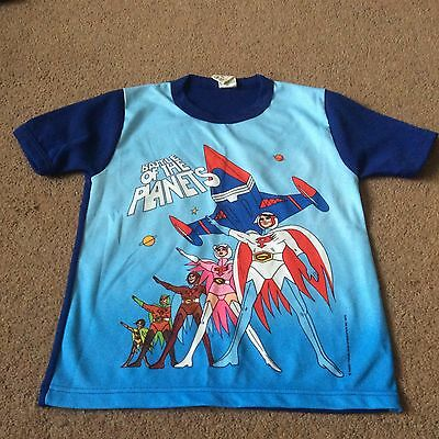 Vintage 70's Childrens Battle of the Planets T-Shirt 100% Polyester
