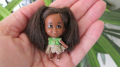 Rare Vintage Liddle Kiddles Lois Lucky Locket Little Black Doll Only African Ame