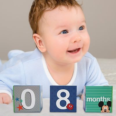 Disney Mickey Mouse Milestone Photo Sharing Age Blocks, Baby Boys, Age 0-24M