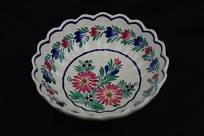 Collectable HB Quimper Hand Painted Bowl stock code 3498