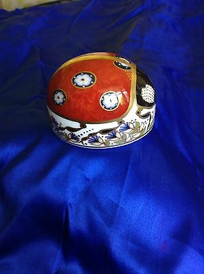 Royal Crown Derby Gold Button,Stopper Ladybird Paperweight
