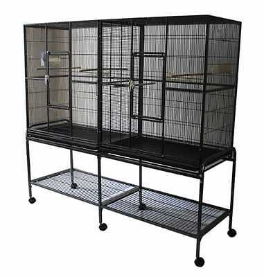 NEW Extra Large Double Flight Cage for Bird Parrot Dove Pigeon small animal