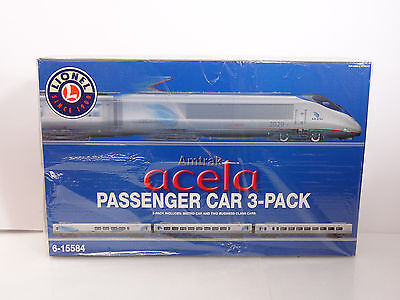 Lionel O Scale Amtrak Acela 3 Car Passenger Add-On Pack Item 6-15584 New