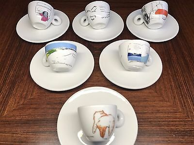 "illy / Amici collection ""Dream"" by Shizuka Yokomizo, 6 Espresso Bar Cups NEU!"