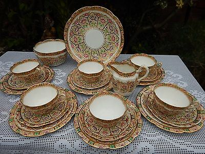 Court China WILLIAM LOWE hand painted 4830 tea service set#1