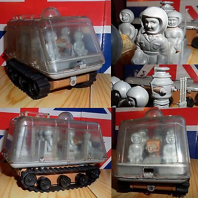 RARE 1966 LOST IN SPACE tinplate CHARIOT toy MARUSAN Japan DR.SMITH + ROBOT WOW