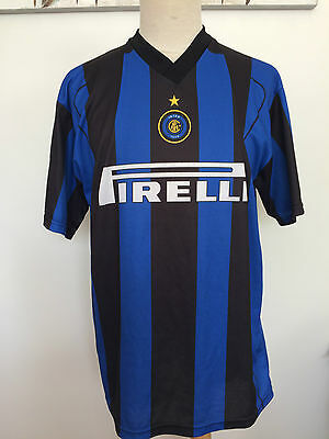 Inter Milan #10 Adriano Home Shirt. Adults Large