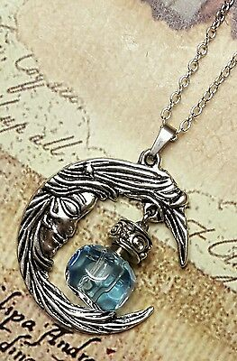 Crescent Moon with Fillable Crystal | Moon Pendant | Urn Jewelry | Moon Urn | BL
