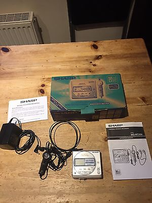 Boxed Sharp MD-MT270H Portable Minidisc Player Recorder & Accessories
