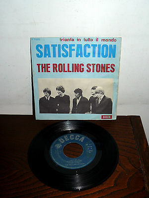 "The Rolling Stones Satisfaction (Trionfa In Tutto Il Mondo ) 7"" 1965  Italy"
