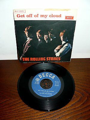 """The Rolling Stones Get Off Of My Cloud   7"""" Italy  1965   I'm Free"""