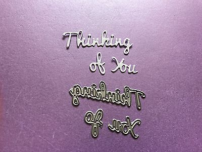 First Edition Thinking Of You Sentiment Cutting And Embossing Dies