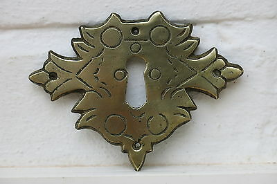Antique / Victorian BRASS FURNITURE Escutcheon / Keyhole Cover (3 AVAILABLE)
