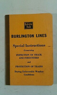 1950 Burlington Lines Special Instructions Governing Insp Of Track & Structures