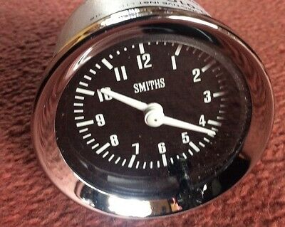 NEW SMITHS TIME CLOCK  52mm DIA CLASSIC CAR , MGB ,