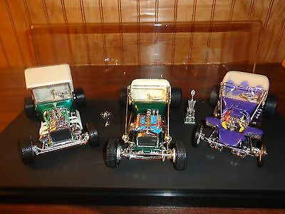 Revell AMT Mono 3 Custom '23 Ford Bucket T's Perfect (PRO BUILT) Super Detailed