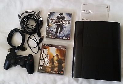"""PS3 250GB console bundle (The Last of Us and """"Call of Duty - World at War"""")"""