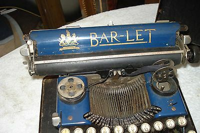Original Vintage Bar-Let Typewiter In Blue In Original Case