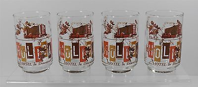 Vintage Lot Of 4 Holiday Hotel/casino Downtown Reno Libbey Glasses Glassware
