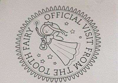 Stampin' Up *TOOTH FAIRY* 1pc Rubber Stamp. NEW.  Retired.