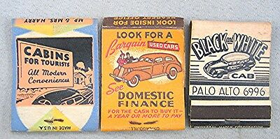 Vintage Lot of 3 Advertising Match Books