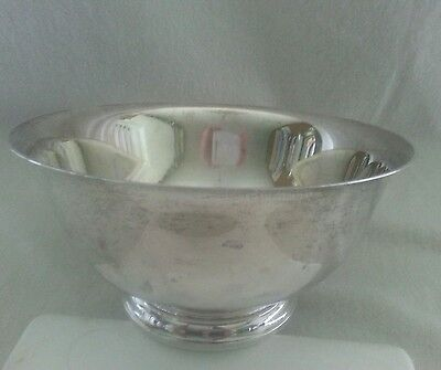 "Vintage Gorham sterling silver large bowl #41660 Revere pattern 25 oz, 9"" wide"