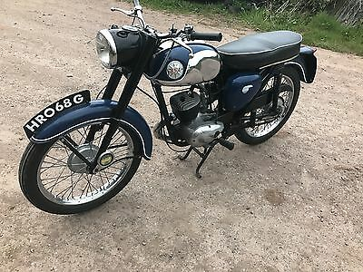 1968 Bsa Bantam D14/4 In Blue,very Pretty Little Bike,one For Your Collection