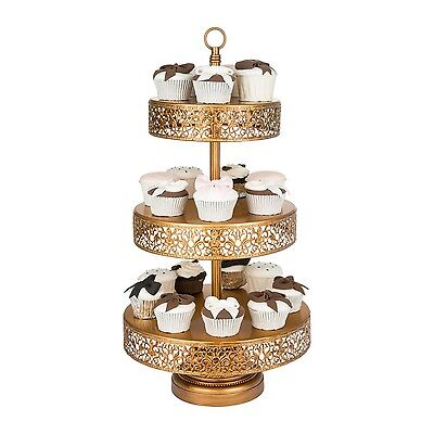 3 Tier Vintage Gold Cake Stand