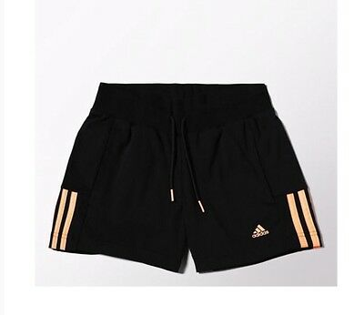 adidas Junior Girls ESS Shorts Training Gym Sports School Climalite Black S20882