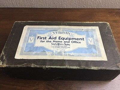 vintage verisan first aid equipment with contents by timothy whites & taylors