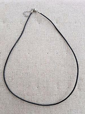 wholesale 44 cm x  50 pces black 3 mm leather cord w lobster clasp in aus stock