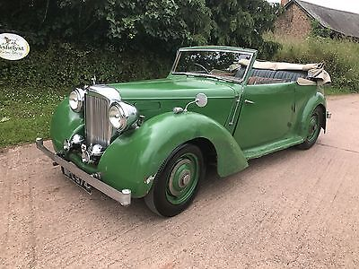 1948 Alvis Ta 14 Dhc For Restoration,starts,drives And Stops,last Owner 55 Yrs