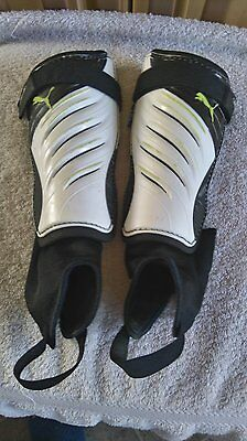 Puma Shin Pads with Ankle Guard Small