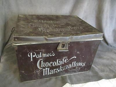 Vintage Large Palmer's Chocolate Marshmellow Tin Box el