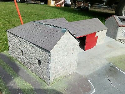 1/32 Stone Shed Conversion Scratch Built Britains Tractor Sheep Cow