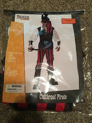 Boys Halloween Costume Pirate Large 10-12 California Costumes