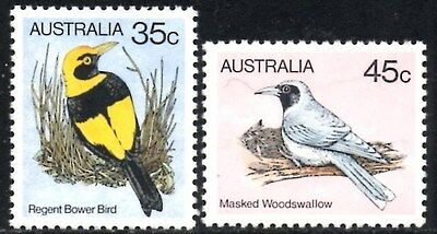 (Ref-10858) Australia 1980 Birds 35c & 45c Values  SG.736/737  Mint (MNH)