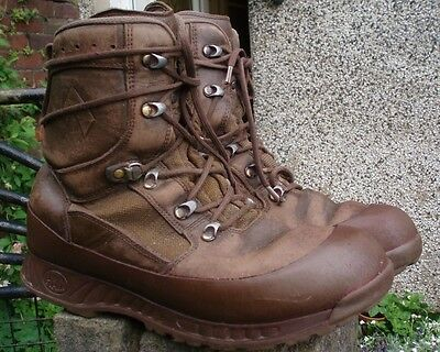 HAIX BROWN COMBAT BOOTS 11 M BRITISH Army HIGH LIABILITY MTP cadets hiking EU 46