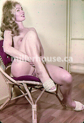 1950's Slim Blonde Original Nude Pin-Up 35mm Film Transparency Slide Photo #3