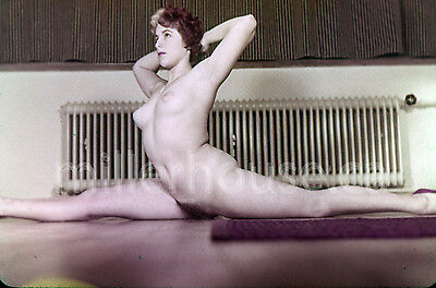 1950's Brunette Woman Original Nude Pin-Up 35mm Film Transparency Slide Photo #4