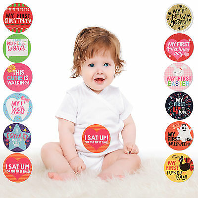 Rising Star Milestone Photo Prop Belly Stickers Gift Set, Baby Girls, Age 0-12M