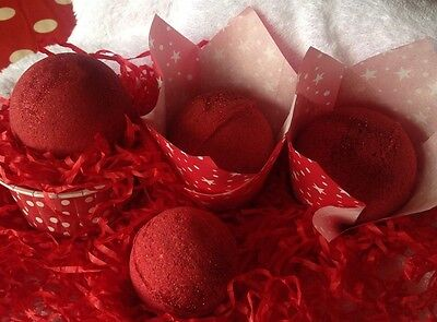 "Bath Bomb,""fragranced With 💯% Pure""very Cherry""fragrance/ Essential Oil."